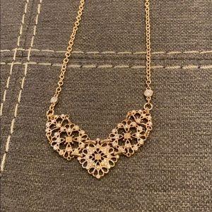 Avon Gold Tone Rhinestoned Necklace